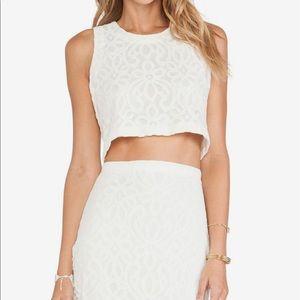 Tularosa white lace co-ord